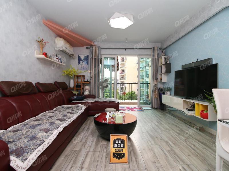 阳光棕榈园一期 户型方正,卧室东南,阳台西南,看花园安静