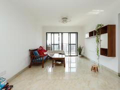 越秀可逸江畔 2室2厅1厨1卫 89.0m² 精致装修可改3房二手房效果图