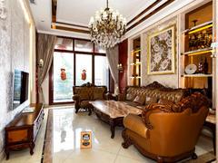 振业城五期 云顶空中豪装别墅,新中式装修,带家私出售。